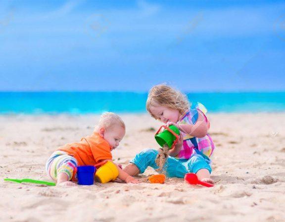 رشد خلاقیت کودک با شن بازی